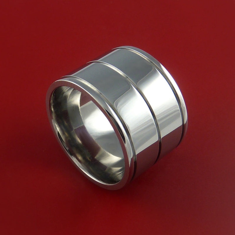 Titanium Wide Wedding Band Engagement Ring Made to Any Sizing 3 to 22