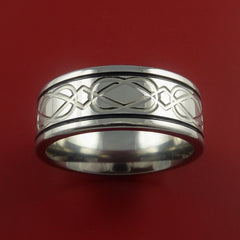 Titanium Celtic Band Wedding Ring Custom Color Inlay Made to Any Size 3 to 22 - Stonebrook Jewelry  - 2