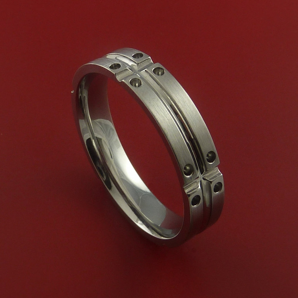 Titanium Unique Wedding Band Ring Made to Any Sizing 4-22 by Stonebrook Jewelry