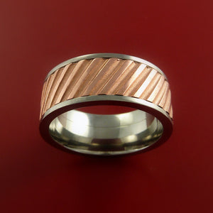 Titanium Spinner Ring with Copper Inlay Custom Made Band