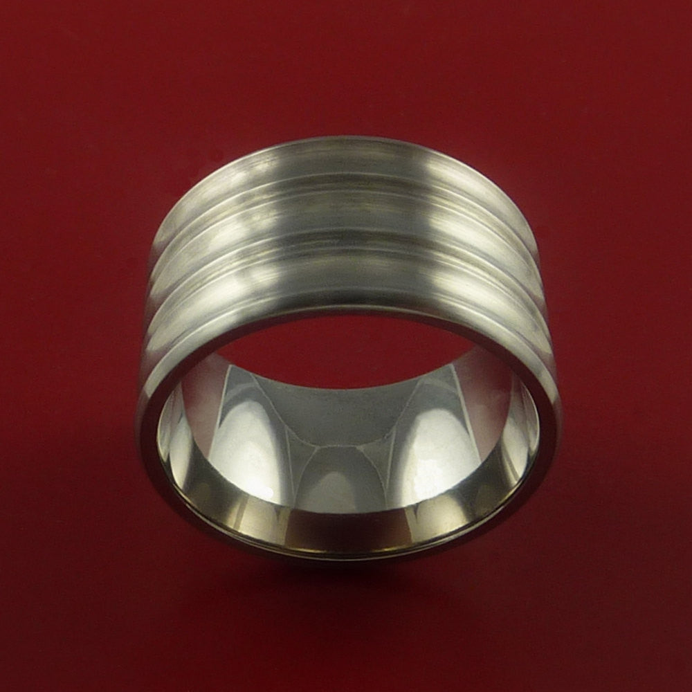 Titanium Extra Wide Band Made to Any Sizing 3-22 and Finish - Stonebrook Jewelry  - 3