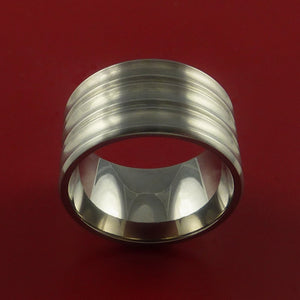 Titanium Extra Wide Band Made to Any Sizing 3-22 and Finish