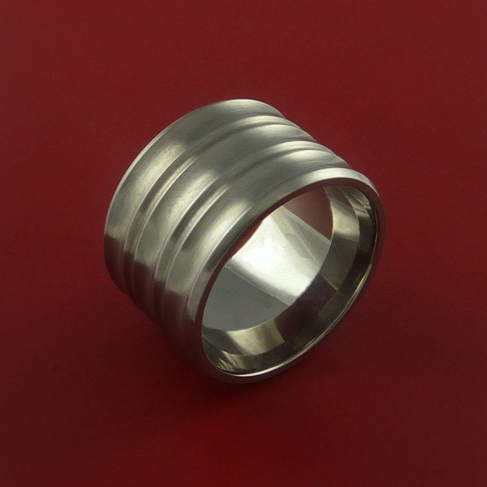 Titanium Extra Wide Band Made to Any Sizing 3-22 and Finish by Stonebrook Jewelry