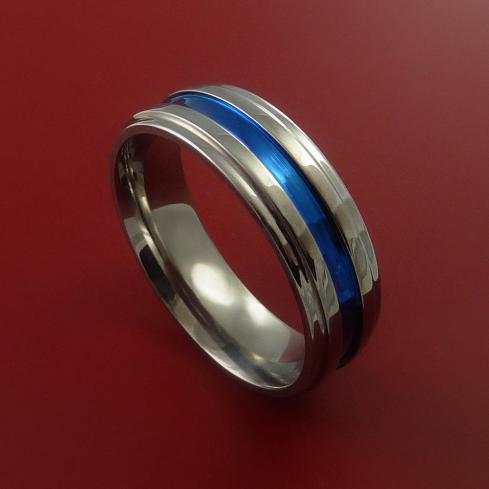 Titanium Band Custom Color Design Ring Any Size 3 to 22 by Stonebrook Jewelry