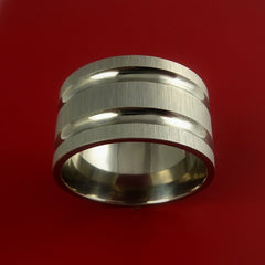 Titanium Extra Wide Modern Style Band Fashion Ring Made to Any Sizing 3 to 22 - Stonebrook Jewelry  - 3