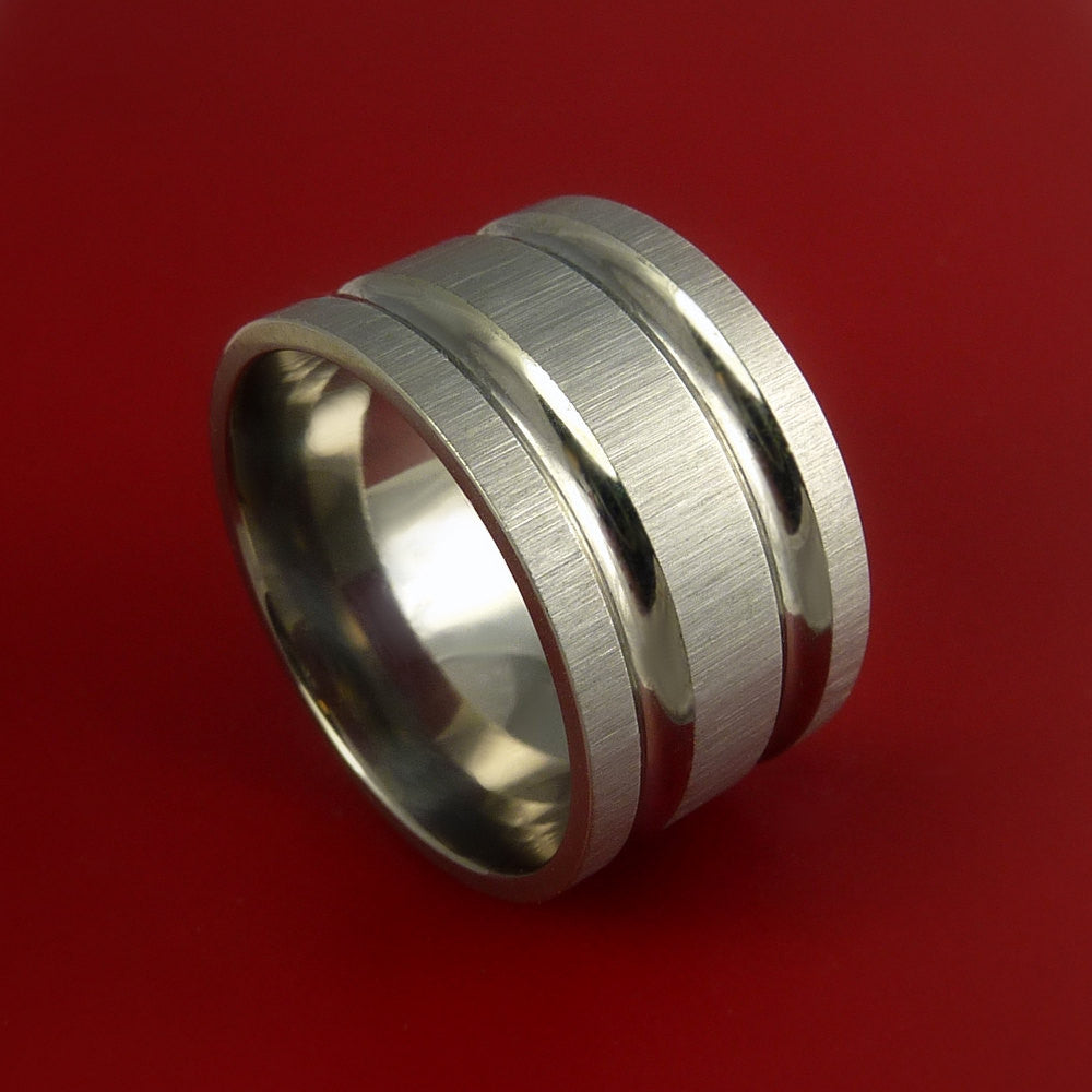 Titanium Extra Wide Modern Style Band Fashion Ring Made to Any Sizing 3 to 22 by Stonebrook Jewelry