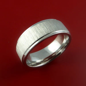 Cobalt Chrome Wedding Band Engagement Ring Made to Any Sizing and Finish 3-22