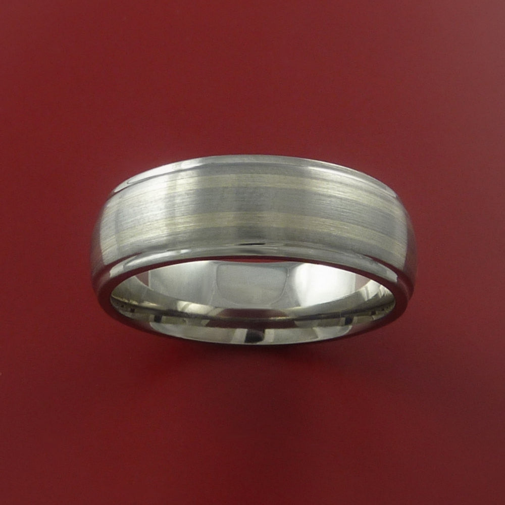 Titanium and White Gold Custom Made Band Any Finish and Sizing 3 to 22 - Stonebrook Jewelry  - 3