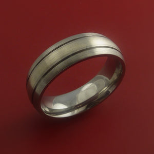 Titanium and White Gold Custom Made Band Any Finish and Sizing 3 to 22