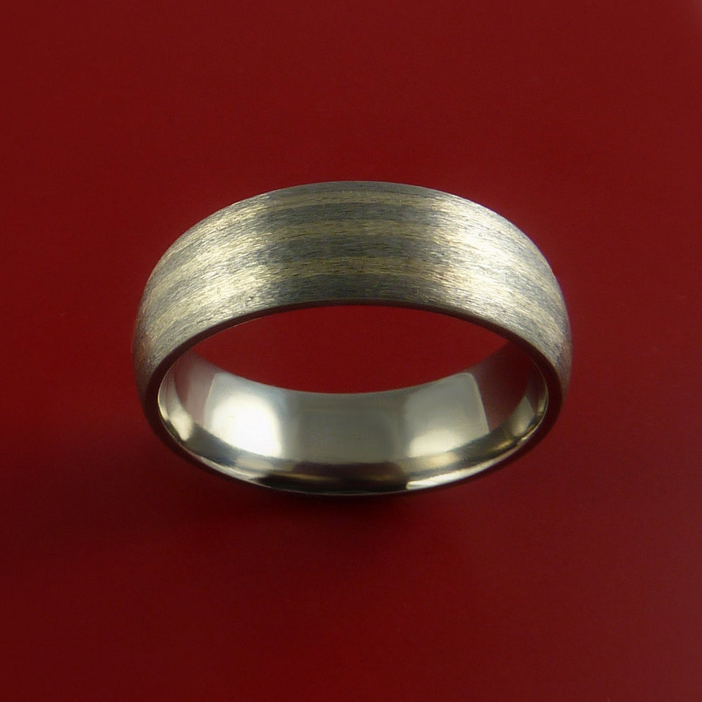 Titanium and White Gold 3mm Inlay Custom Made Band Any Finish and Sizing 3 to 22 - Stonebrook Jewelry  - 3