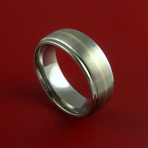White Gold and Titanium Ring Custom Made Band Any Finish and Sizing from 3-22