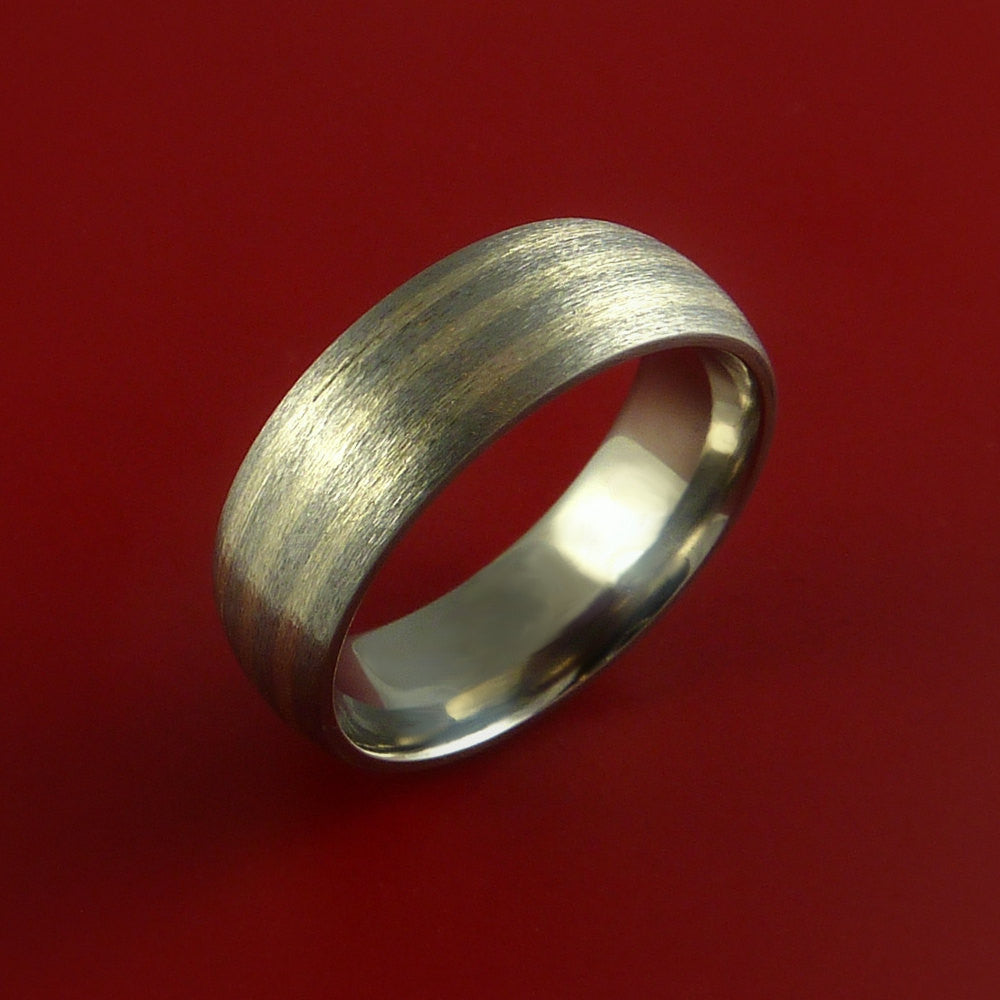 Titanium and White Gold 3mm Inlay Custom Made Band Any Finish and Sizing 3 to 22 - Stonebrook Jewelry  - 2