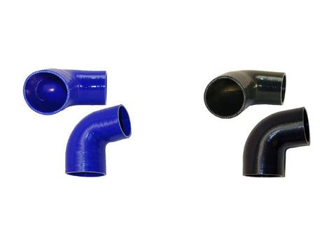 "3.25"" to 2.5"" 90° Silicone Reducer"