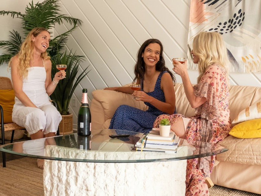 Courtney Mann, Sarah Sklash and April Brown of Motel Makeover at the opening weekend of The June in Sauble Beach