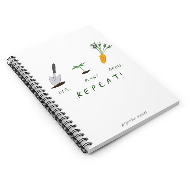 dig plant grow notebook