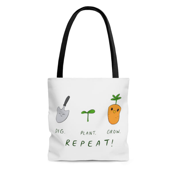 cartoon dig plant grow tote