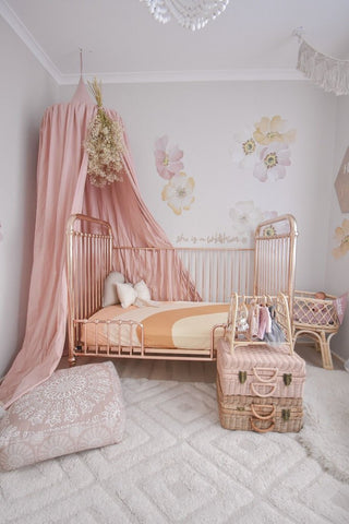 Organic Cotton Dusty Pink Canopy
