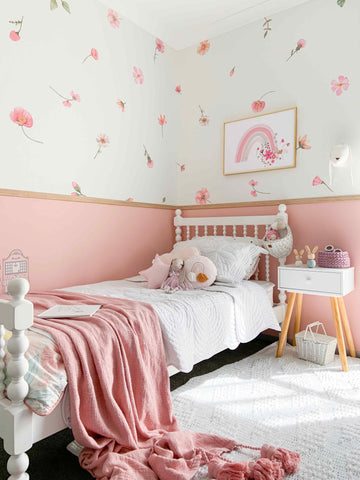 Falling Flowers Wall Decals