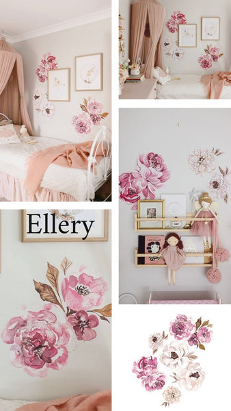 Ellery Peony Wall Decals