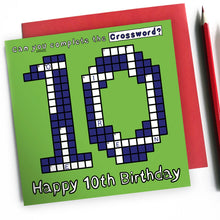 Load image into Gallery viewer, happy 10th birthday card