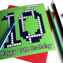Load image into Gallery viewer, 10th birthday card boy