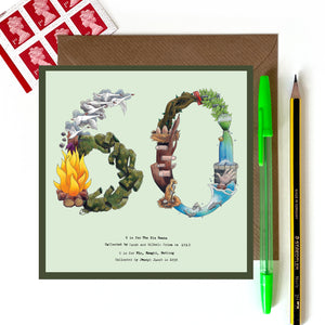 60th card for birthday or 60th anniversary card