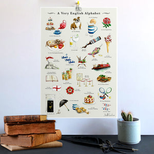 a very english alphabet wall art. New home gift for couple