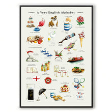 Load image into Gallery viewer, a very english alphabet wall art. house warming gift or leaving gift for  expat
