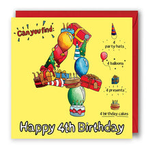 Load image into Gallery viewer, 4 today birthday card