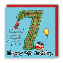 Load image into Gallery viewer, happy 7th birthday card