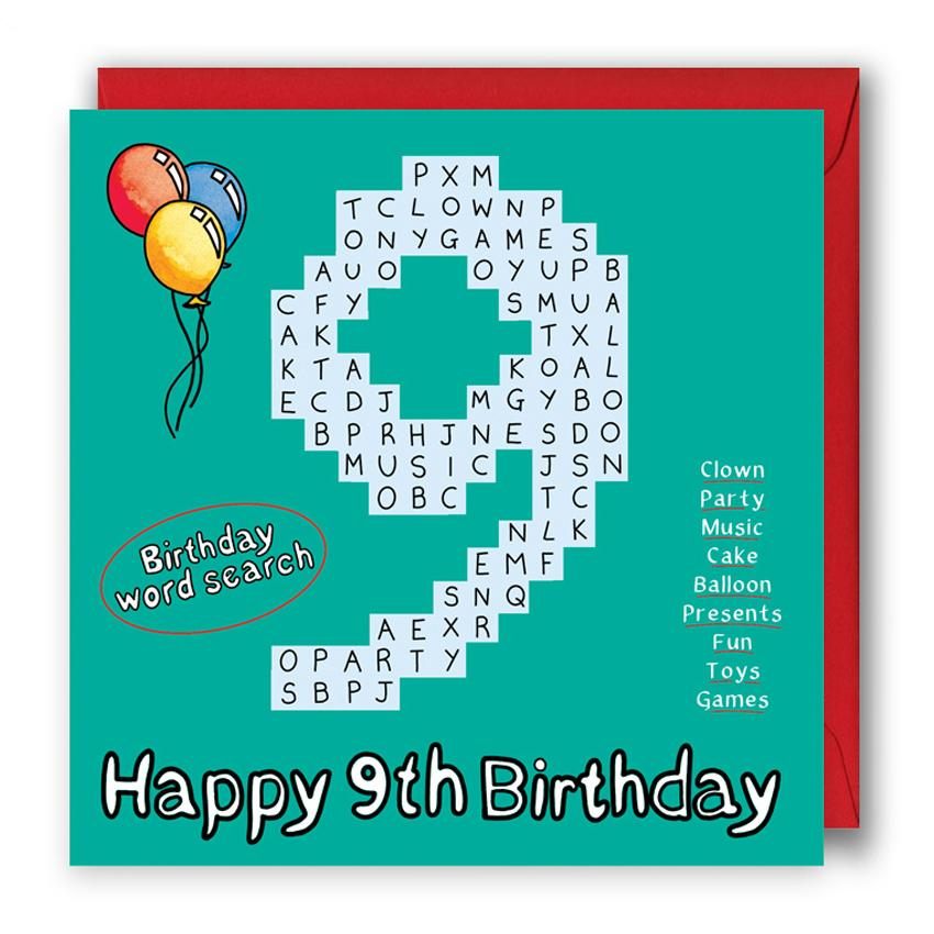 happy 9th birthday card