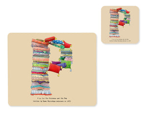 alphabet placemat and matching coaster letter p