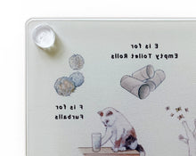 Load image into Gallery viewer, The Cat's Alphabet Glass Cutting Board