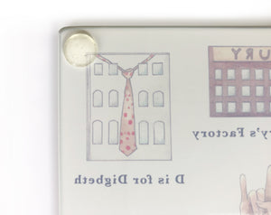 The Birmingham Alphabet Glass Cutting Board