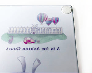 The Bristol Alphabet Glass Cutting Board