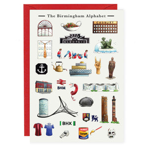 the birmingham alphabet greeting card