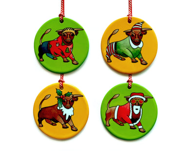 the birmingham bull christmas tree decorations
