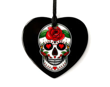 Load image into Gallery viewer, black day of the dead sugar skull decor