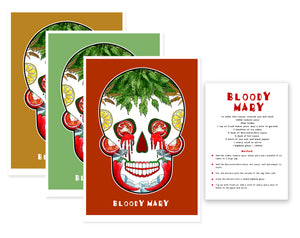 bloody mary cocktail sugar skull art print