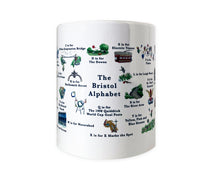 Load image into Gallery viewer, the bristol alphabet mug featuring clifton suspension bridge