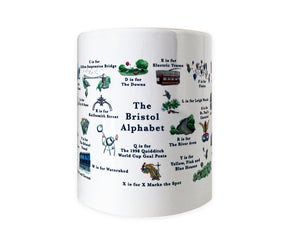 the bristol alphabet mug featuring clifton suspension bridge