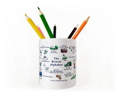 the bristol alphabet pencil pot