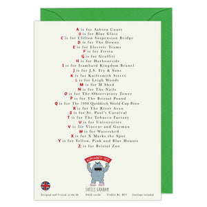 The Bristol Alphabet Greeting Card