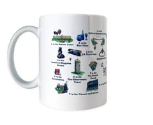 Load image into Gallery viewer, the bristol alphabet mug featuring Brunel and the observatory tower