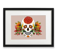 Load image into Gallery viewer, skull art print gothic gift idea for her