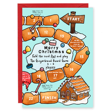 gingerbread board game christmas card for children