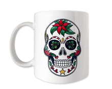 Load image into Gallery viewer, christmas sugar skull coffee mug gift idea