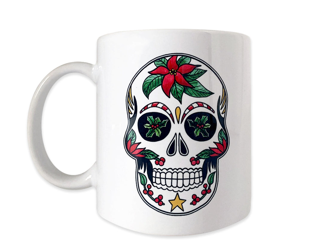 christmas sugar skull coffee mug gift idea
