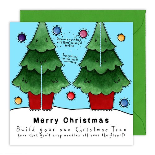 make your own christmas tree christmas card
