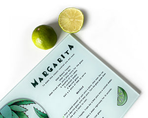 margarita cocktail recipe cutting board